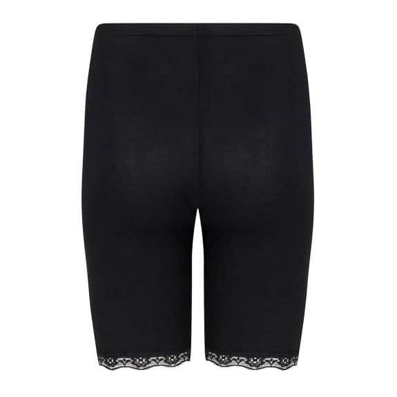 zwart broekje met korte pijpjes en kant