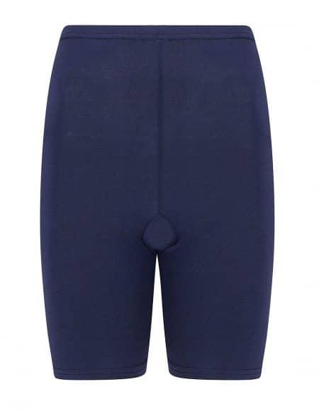 donkerblauw broekje voor onder je jurk, met pijpjes tegen schurende benen